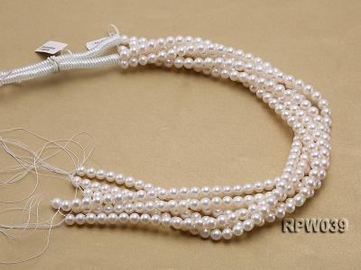 Wholesale High-quality 7-8mm Classic White Round Freshwater Pearl String RPW039 Image 3