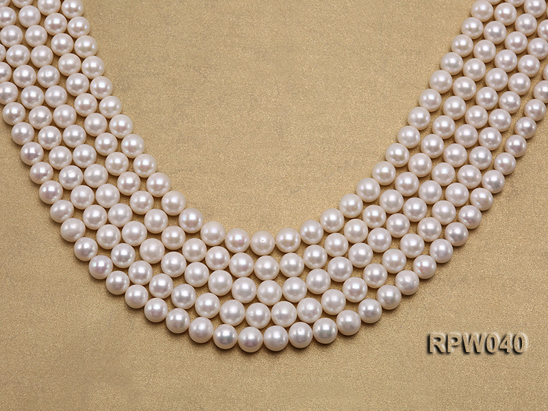Wholesale High-quality 8-9.5mm Classic White Round Freshwater Pearl String big Image 1
