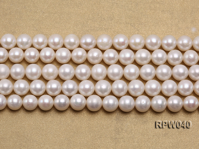 Wholesale High-quality 8-9.5mm Classic White Round Freshwater Pearl String big Image 2