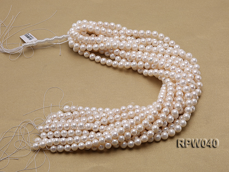 Wholesale High-quality 8-9.5mm Classic White Round Freshwater Pearl String big Image 3