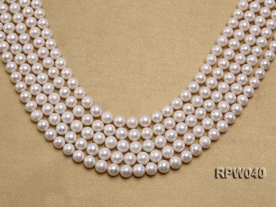 Wholesale High-quality 8-9.5mm Classic White Round Freshwater Pearl String RPW040 Image 1