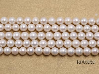 Wholesale High-quality 8-9.5mm Classic White Round Freshwater Pearl String RPW040 Image 2