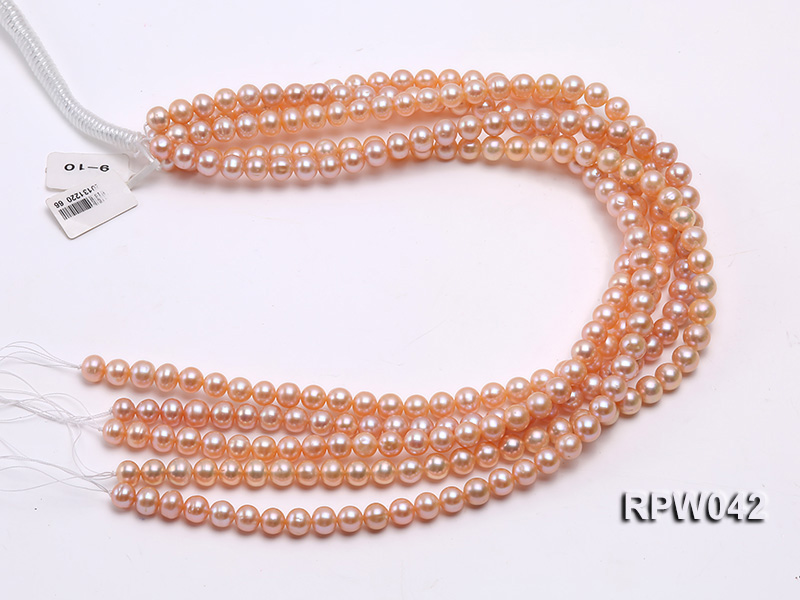 Wholesale AAA 7.5-8mm Pink Round Freshwater Pearl String big Image 4