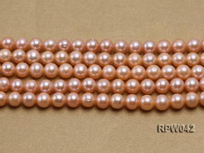 Wholesale AAA 7.5-8mm Pink Round Freshwater Pearl String RPW042 Image 2