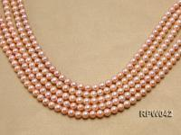 Wholesale AAA 7.5-8mm Pink Round Freshwater Pearl String RPW042