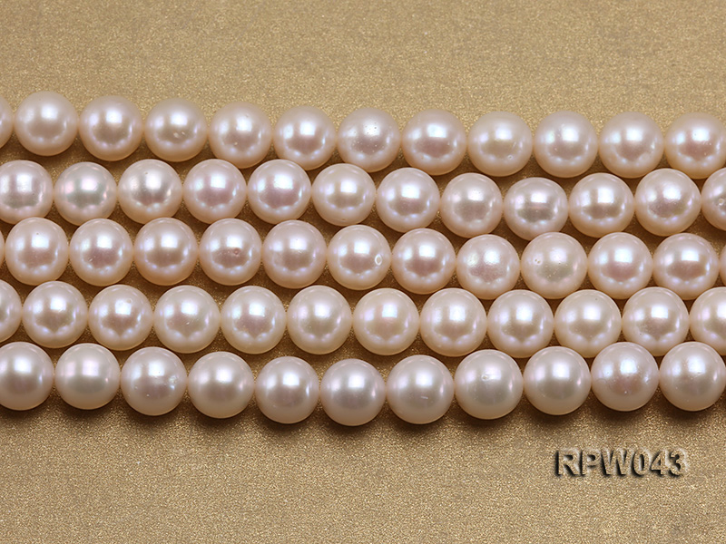 Wholesale High-quality 7.5-8mm Classic White Round Freshwater Pearl String big Image 2