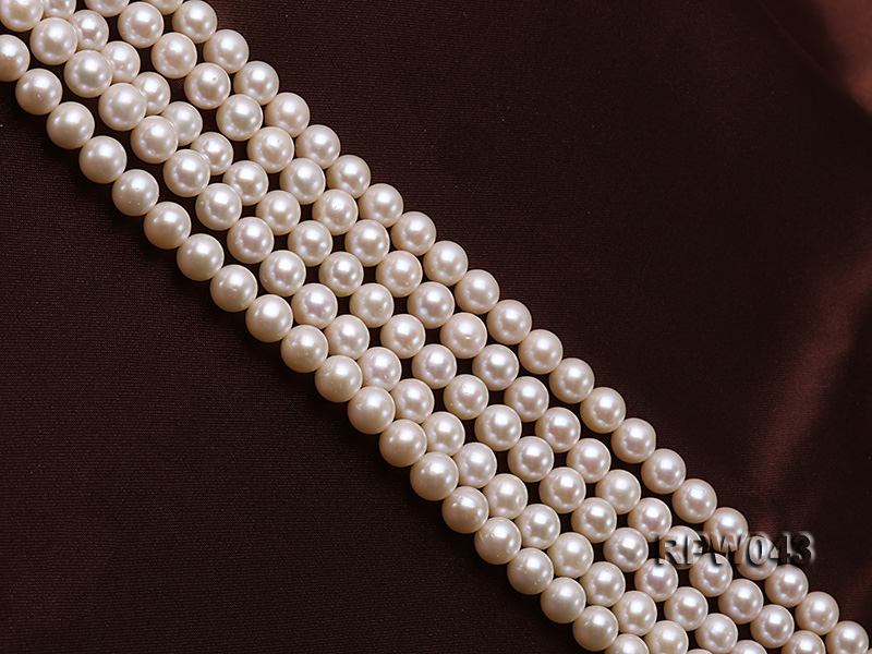 Wholesale High-quality 7.5-8mm Classic White Round Freshwater Pearl String big Image 3