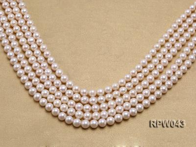 Wholesale High-quality 7.5-8mm Classic White Round Freshwater Pearl String RPW043 Image 1