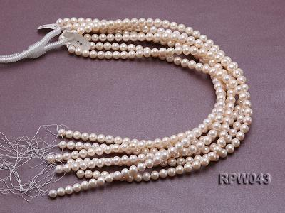 Wholesale High-quality 7.5-8mm Classic White Round Freshwater Pearl String RPW043 Image 4