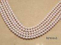 Wholesale High-quality 7.5-8mm Classic White Round Freshwater Pearl String RPW043