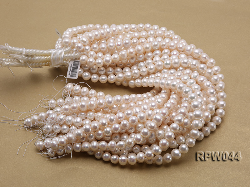 Wholesale 11-12mm White Round Freshwater Pearl String big Image 3