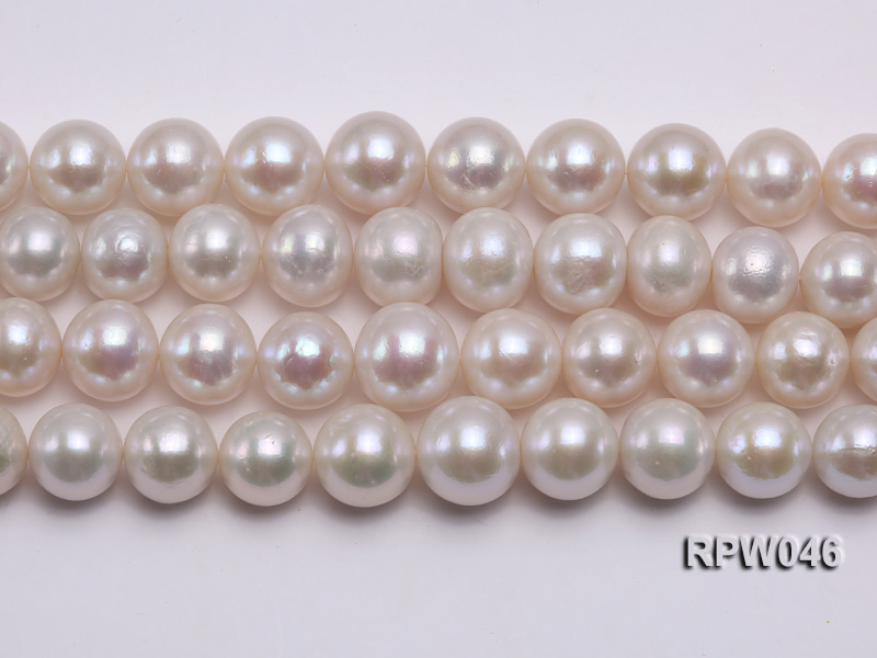 12-14mm Classic White Round Edison Pearl Loose String big Image 2