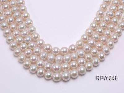 12-14mm Classic White Round Edison Pearl Loose String RPW046 Image 1