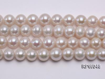12-14mm Classic White Round Edison Pearl Loose String RPW046 Image 2