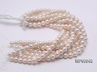 12-14mm Classic White Round Edison Pearl Loose String RPW046 Image 3
