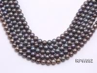 Wholesale 10-11mm Black Round Freshwater Pearl String RPW052