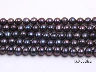 Wholesale 8-9mm Black Round Freshwater Pearl String   RPW065 Image 1