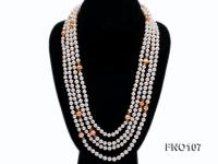 8-8.5mm natural white round freash water pearl necklace FNO107
