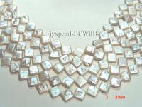 wholesale 9mm white rhombic pearl strings BCW018