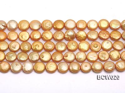 Wholesale 12-13mm Classic White Button-shaped Cultured Freshwater Pearl String BCW020 Image 2
