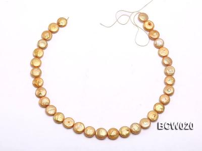 Wholesale 12-13mm Classic White Button-shaped Cultured Freshwater Pearl String BCW020 Image 3