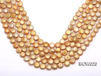Wholesale 12-13mm Classic White Button-shaped Cultured Freshwater Pearl String BCW020