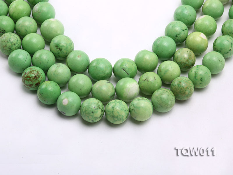 Wholesale 17mm Round Green Turquoise Beads String big Image 1