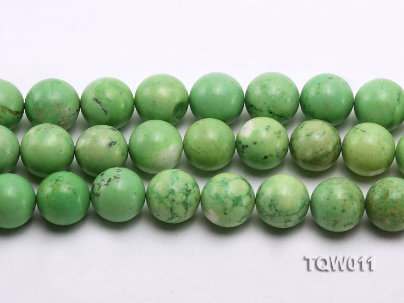 Wholesale 17mm Round Green Turquoise Beads String big Image 2