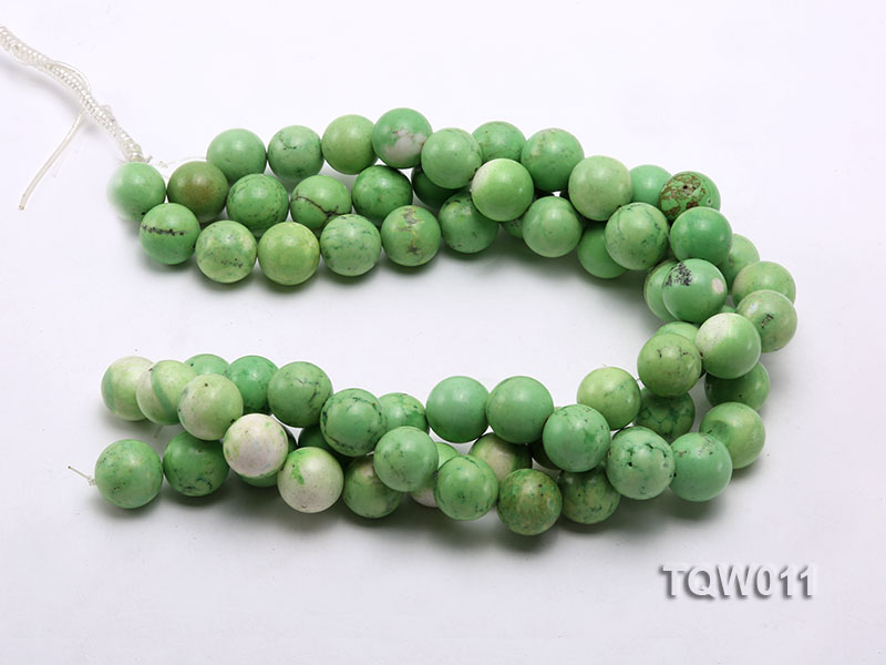 Wholesale 17mm Round Green Turquoise Beads String big Image 3