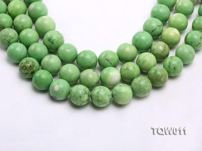 Wholesale 17mm Round Green Turquoise Beads String TQW011 Image 1
