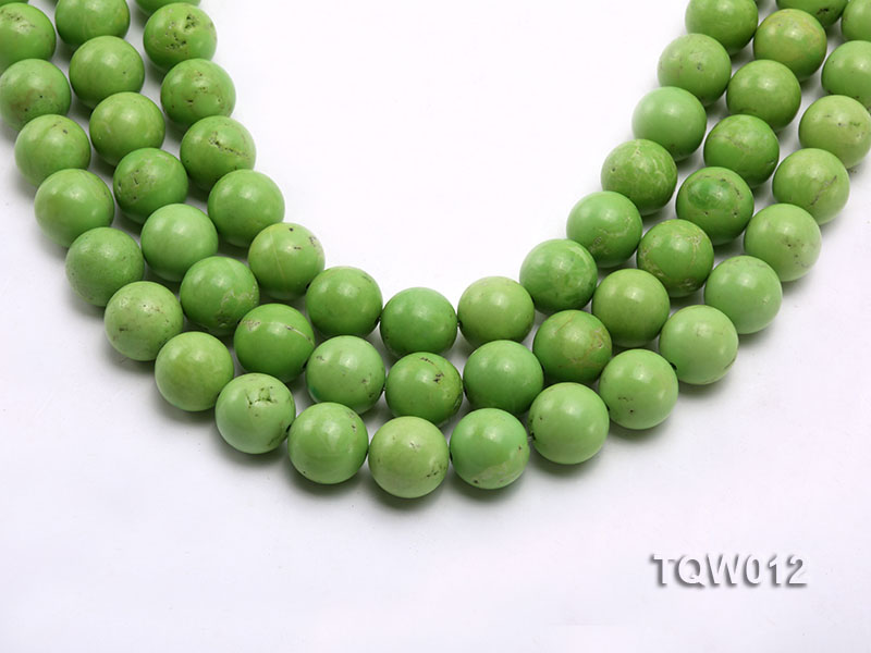 Wholesale 14mm Round Green Turquoise Beads String big Image 1