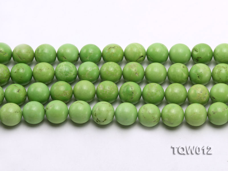 Wholesale 14mm Round Green Turquoise Beads String big Image 2