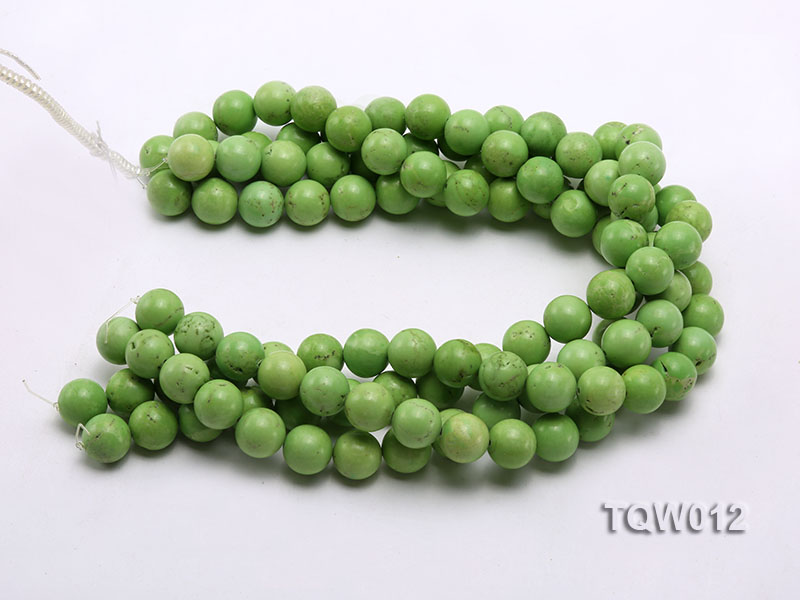 Wholesale 14mm Round Green Turquoise Beads String big Image 3