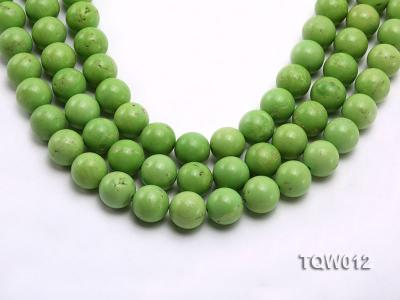 Wholesale 14mm Round Green Turquoise Beads String TQW012 Image 1