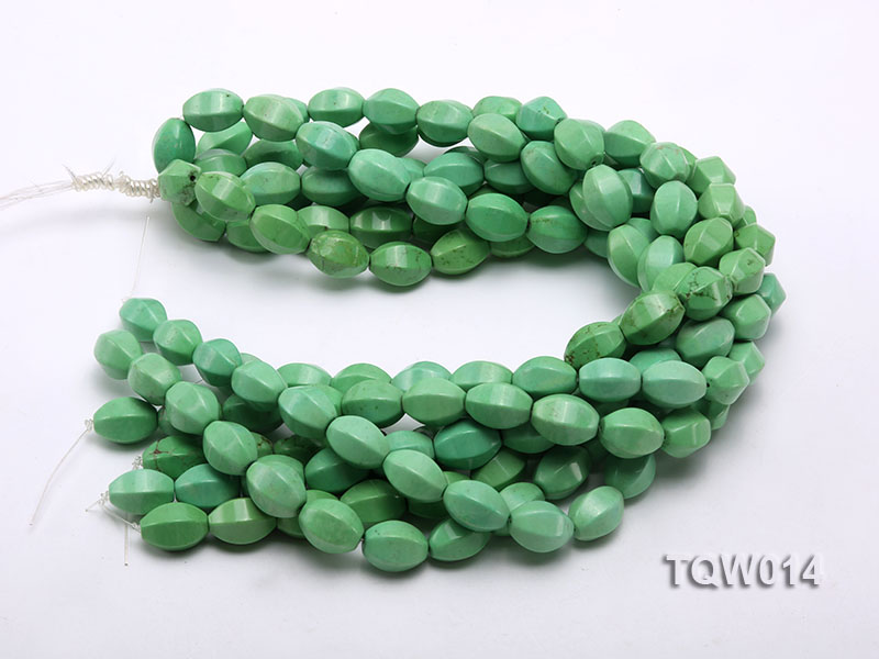 Wholesale 13x18mm Faceted Oval Green Turquoise Beads String big Image 3