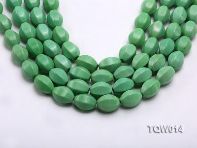 Wholesale 13x18mm Faceted Oval Green Turquoise Beads String TQW014 Image 1