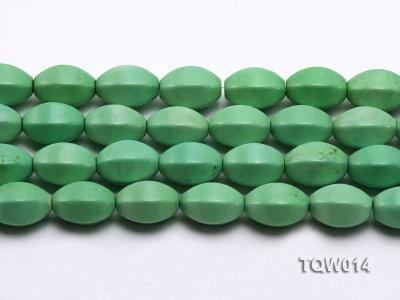 Wholesale 13x18mm Faceted Oval Green Turquoise Beads String TQW014 Image 2