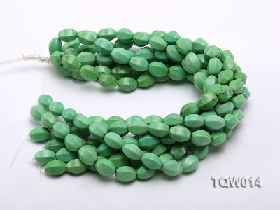 Wholesale 13x18mm Faceted Oval Green Turquoise Beads String TQW014 Image 3