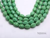 Wholesale 13x18mm Faceted Oval Green Turquoise Beads String TQW014