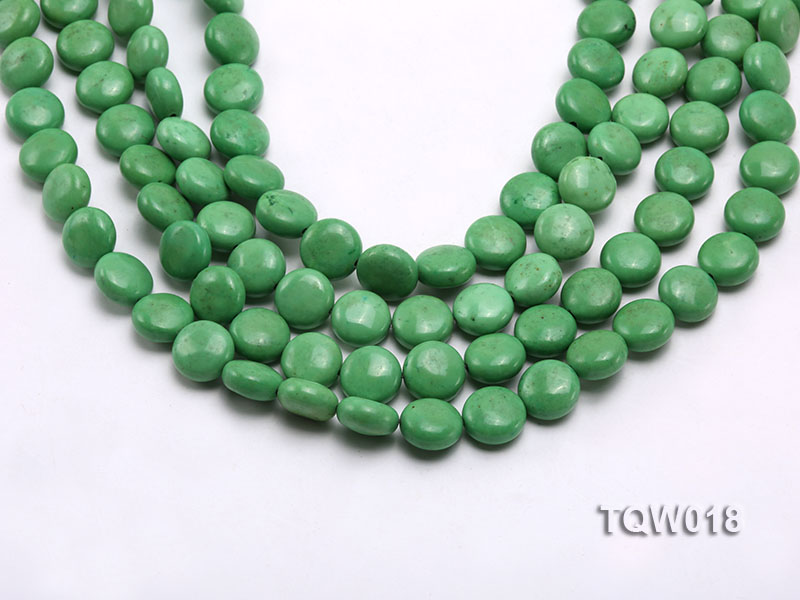 Wholesale 12.5mm Oblate Green Turquoise Beads String big Image 1