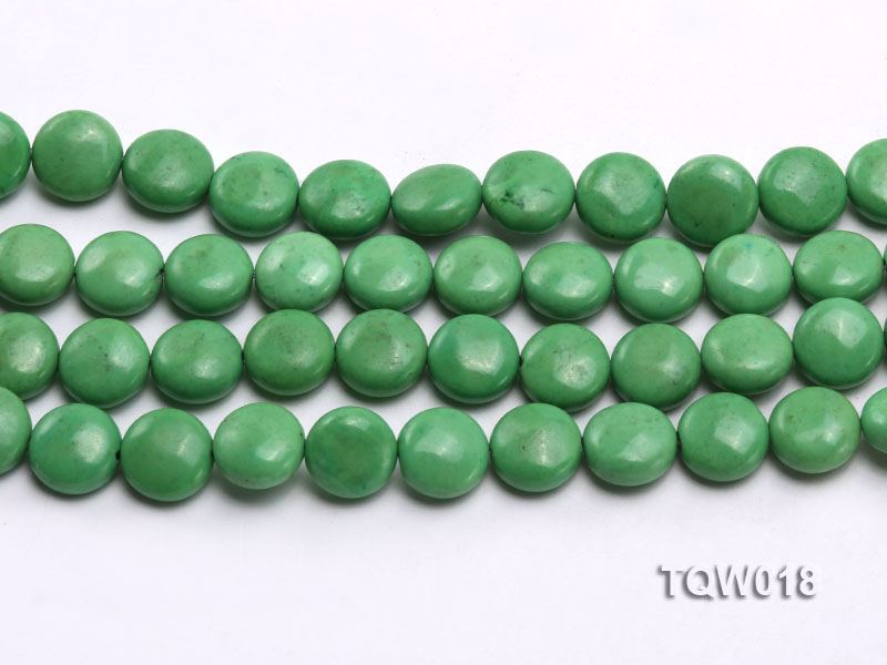Wholesale 12.5mm Oblate Green Turquoise Beads String big Image 2