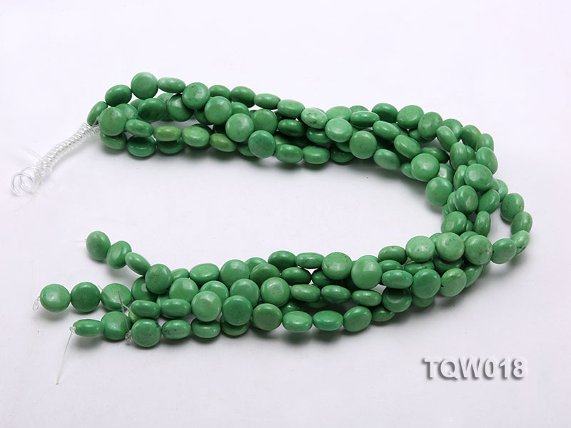 Wholesale 12.5mm Oblate Green Turquoise Beads String big Image 3