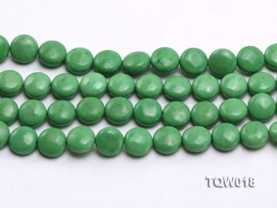 Wholesale 12.5mm Oblate Green Turquoise Beads String TQW018 Image 2