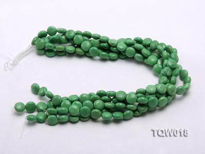 Wholesale 12.5mm Oblate Green Turquoise Beads String TQW018 Image 3