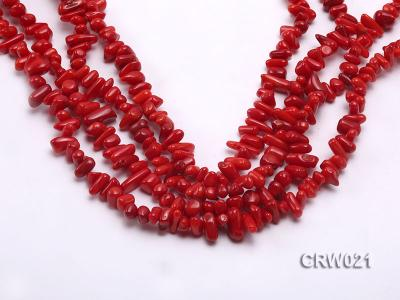 Wholesale 7-11mm Irregular Red Coral Chips Loose String CRW021 Image 1