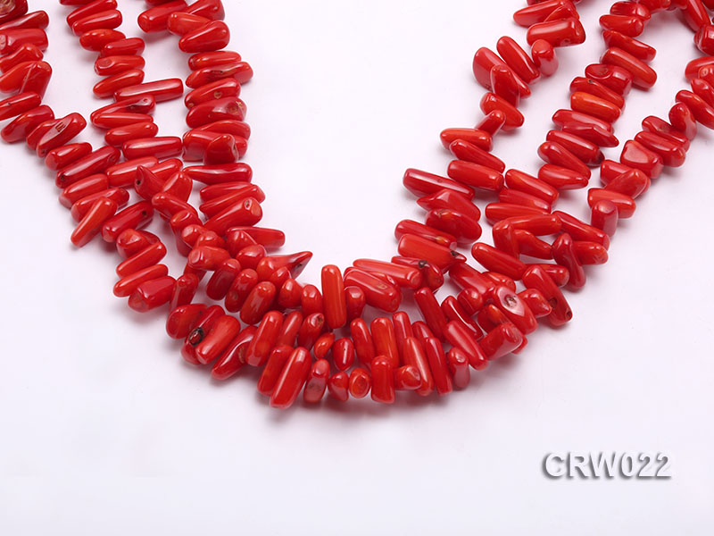 Wholesale 10-18mm Irregular Red Coral Chips Loose String big Image 1