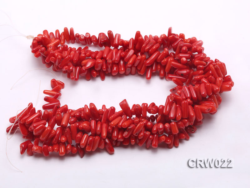 Wholesale 10-18mm Irregular Red Coral Chips Loose String big Image 3