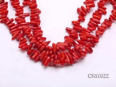 Wholesale 10-18mm Irregular Red Coral Chips Loose String CRW022 Image 1