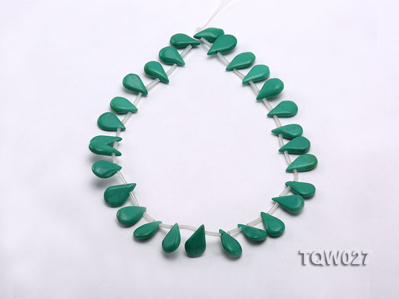 Wholesale 12x19mm Drop-shaped Green Turquoise Beads String big Image 2