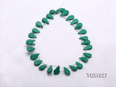 Wholesale 12x19mm Drop-shaped Green Turquoise Beads String TQW027 Image 2